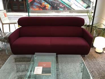 OKURA High back settee in Pica Charm. Was £3884, NOW £2900. Ex-Display, Sold as Seen. Available immediately.