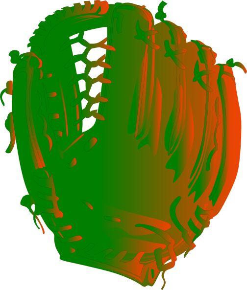 Green And Orange Glove