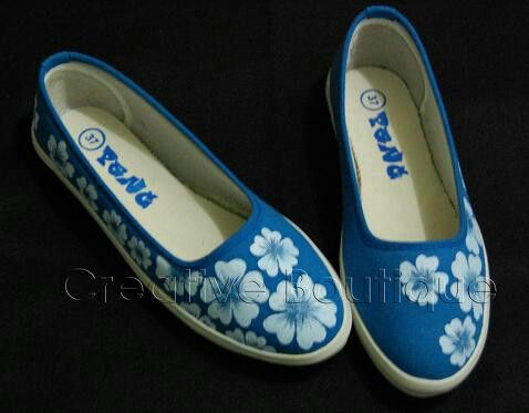 Painting shoes Blue Flower Only 125k-135k