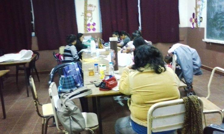 en el taller con mis alumnas