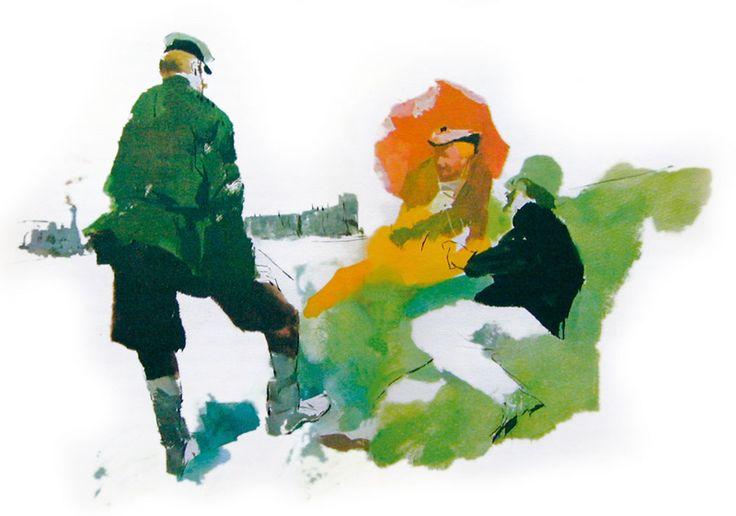 illustrazione Cechov, Tre Anni (Mondadori)
