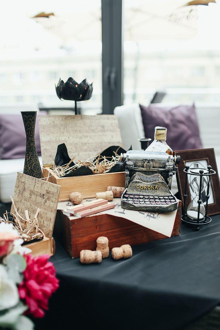 wedding, wedding entertainment, wedding decor, оформление свадьбы, свадебный декор, свиток, винтажные вещи,винтажный декор, печатная машинка, шкатулка, цветы