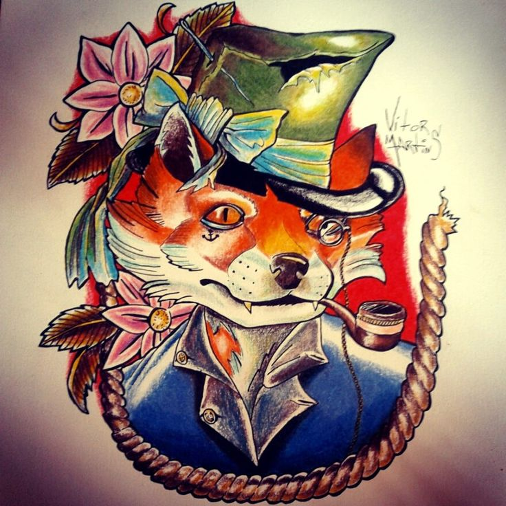17 best images about foxes for Silver fox tattoo
