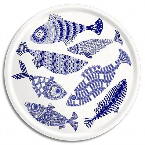 and fish - this could work http://www.designsponge.com/2011/04/ary-trays-hello-summer.html