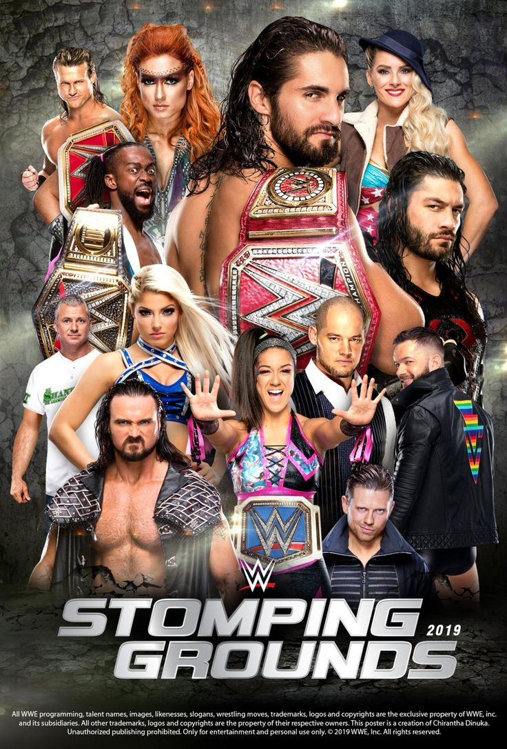 WWE Stomping Grounds 2019 Poster by Chirantha on DeviantArt