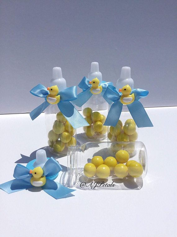 24 Baby Shower Favors Rubber Duck Baby Shower Baby Bottle Favors