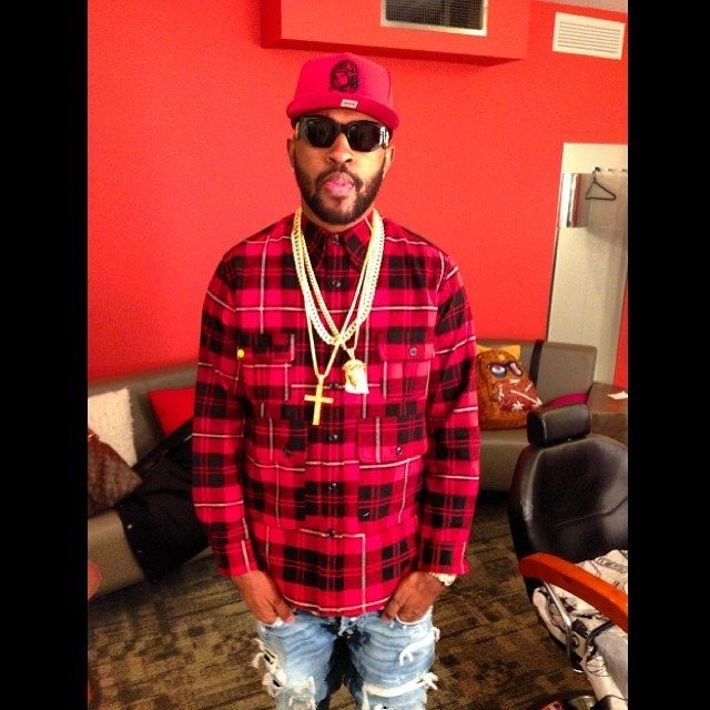 Mike Will Made It at BET 106  Park in BBC Shirt, Salvatore Ferragamo Belt and Jordan 6s