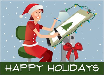 84 best engineering cards images on pinterest holiday cards draw up repeat clients with the highly affordable female architect card that has a contractor drawing reheart Choice Image