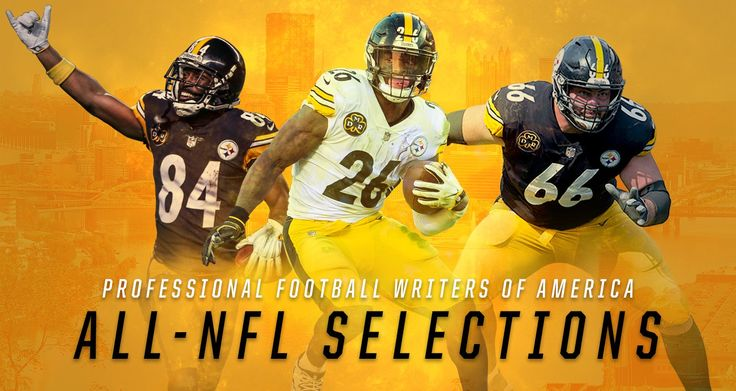Antonio Brown, Le'Veon Bell and David DeCastro are among six Steeler players named to the Pro Football Writers of America teams.