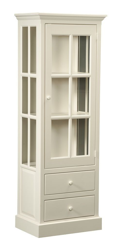 Amish Kitchen Pantry Storage Cabinet Display Cupboard White Country Cottage Wood More Kitchen