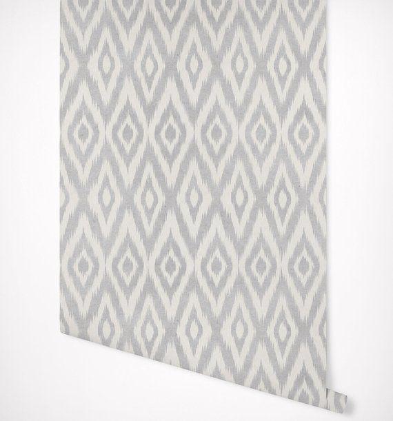 Ikat Gray Geometric Wallpaper Self Adhesive Premium Quality Multi Purpose Peel Stick Wallpaper Geometric Wallpaper Peel And Stick Wallpaper Wallpaper Decor