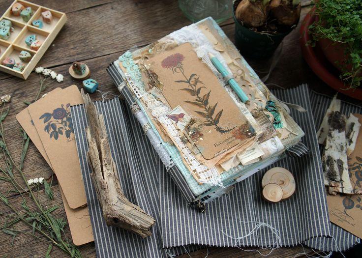 Handmade by Smilla: Блокнот ботанически-птичий