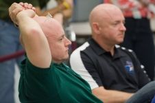 Astronauts Mark Kelly and Scott Kelly are pictured in training Double the research, double the understanding. New research embarks on studying twin brothers over a 1-year period as one twin spends a year in space. http://go.nasa.gov/1lGgjyr