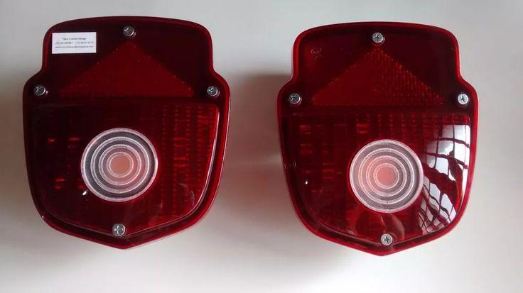 lanternas traseiras pick up ford f-100 em leds c/ luz de ré