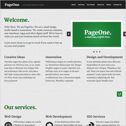 PageOne is a minimal, clean, single page site template.