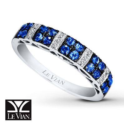 LeVian Natural Sapphire Diamond Accents 14K Gold Ring