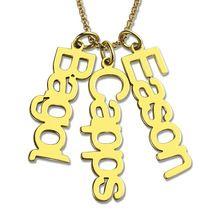 Персонализированные Золото Вертикальная Имя Ожерелье Нескольких Имя Ожерелье Подарок Невесты Подарок Мама Ювелирных Изделий(China (Mainland))