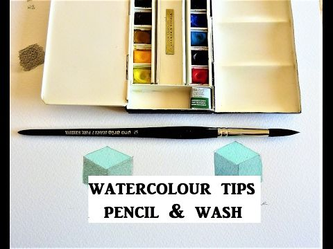 Watercolour Tips For Pencil and Wash Technique - YouTube