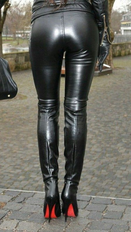 Amateur OTK boots and leather pants bottom | something ...