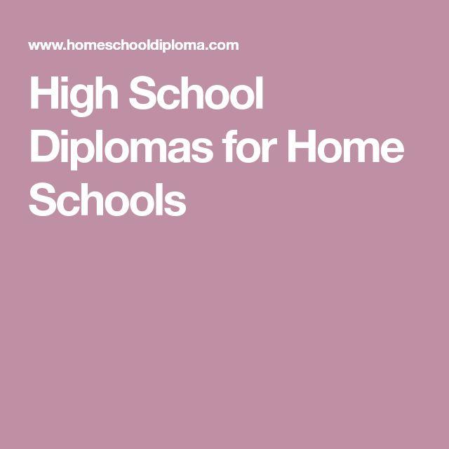 High School Diplomas for Home Schools