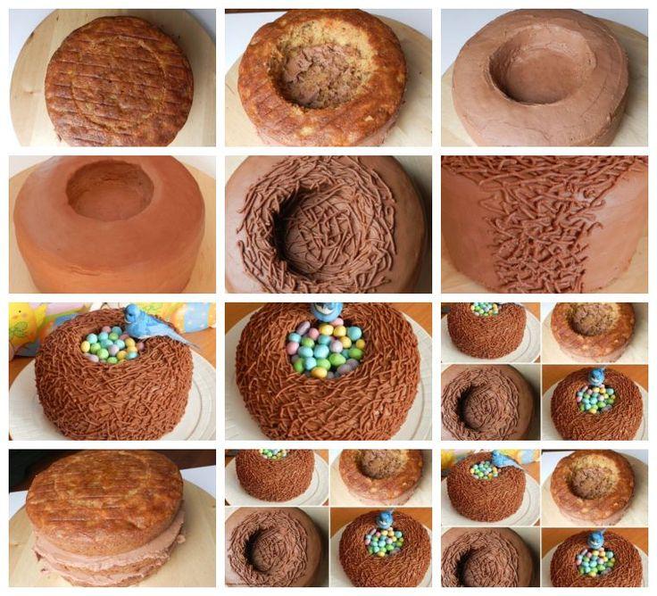 Bolo ninho-chocolate p/ a foto Receita do bolo de cenoura de Kathleen-  2 xícaras de farinha crua-  2 colheres de chá de fermento em pó-  1 colher de chá de bicarbonato de sódio-  3/4 colher de chá de sal-  2 colheres de chá de canela-  1/2 colher de chá de noz-moscada-  3/4 xícara de açúcar branco-  3/4 xícara de açúcar mascavo-  3 ovos-  1 1/2 xícaras de óleo vegetal-  2 colheres de chá de extrato de baunilha puro-  2 xícaras de cenoura ralada-  1 xícara de abacaxi esmagado-  1/2 xícara de…