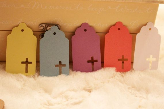 Cross Gift Tag  Perfect For Holidays First by SillyLoveSongCustoms