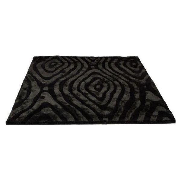 Modern Rugs UK Black Shaggy Rug ❤ liked on Polyvore featuring home, rugs, black area rug, black rug, modern rugs and modern area rugs