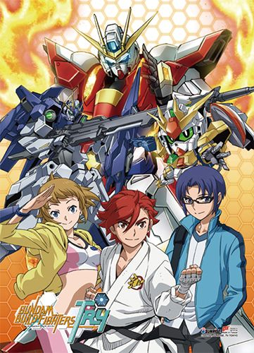 Gundam Build Fighters Try Wall Scroll - Group @Archonia_US