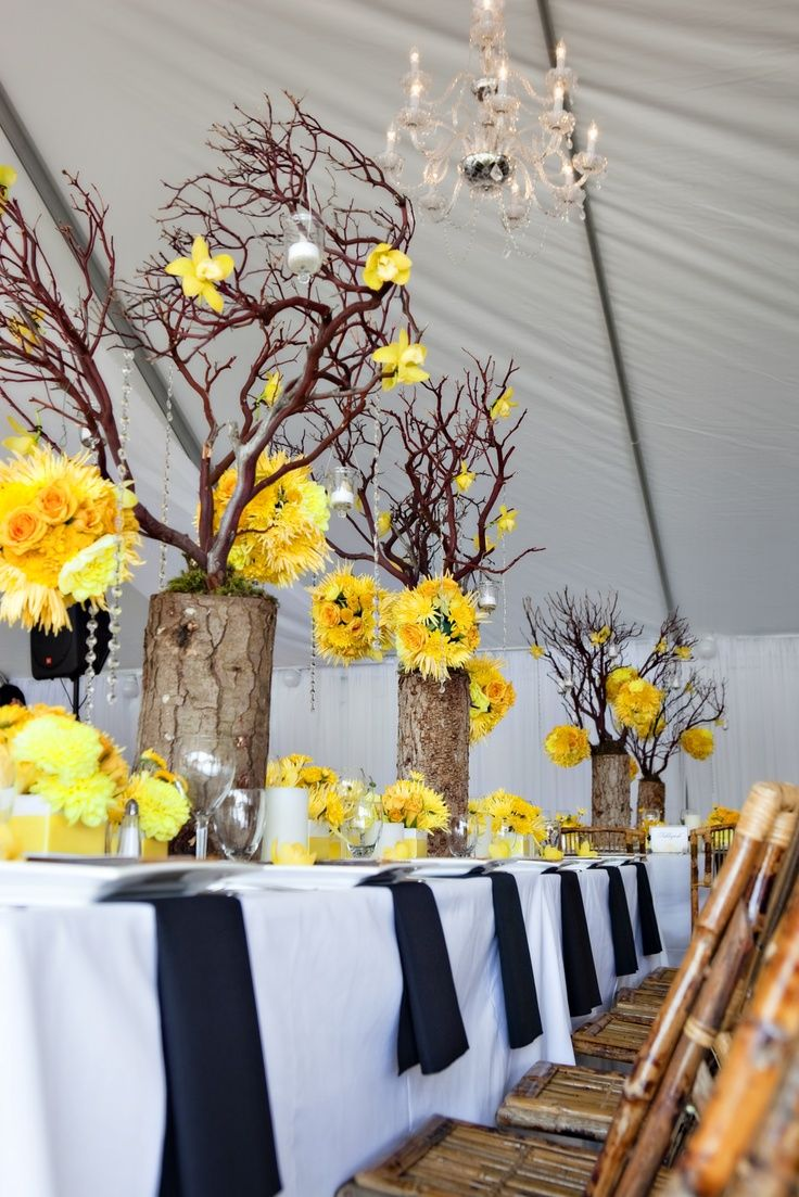329 best images about yellow orange floral on pinterest - Yellow and orange wedding decorations ...