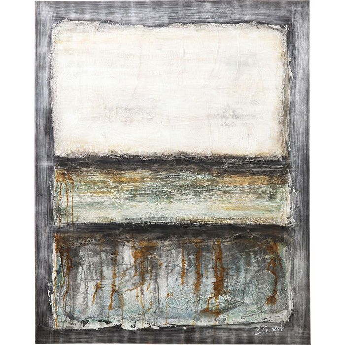 Πίνακας Oil Painting Abstract Grey Line One 150x120cm  €395