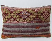 violet kilim pillow 16x24 hippie pillow cover throw pillow couch bedroom pillow case primitive pillow cover contemporary pillow lumbar 28721