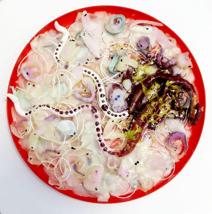 Plenty; from series Feasts. S. Tarnanen, 2014. Plastic, wax, acrylics.