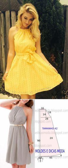 Простое летнее платье (выкройка)