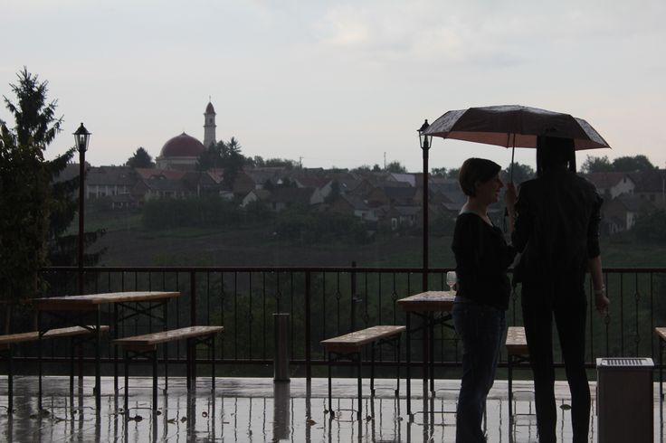 Rainy day at Palkonya: View from the terrace of the Mokos Winery - Esős idő Palkonyán: Panoráma a Mokos Pincészet teraszáról