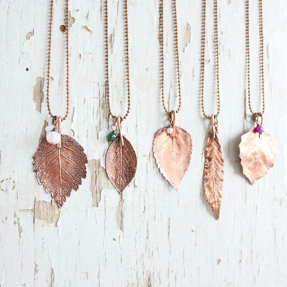 SALE  Real leaf necklace  Botanical jewelry  di wirefoxjewellery, $19.00