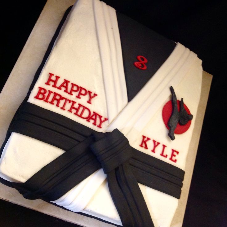Karate.. Martial arts cake