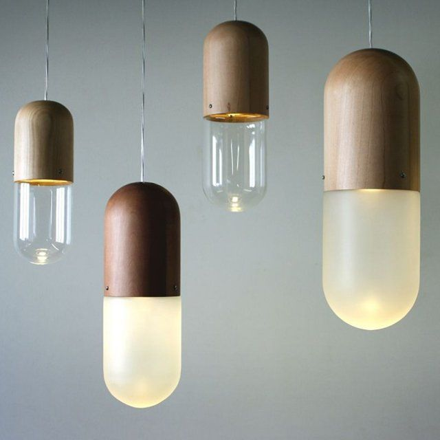Pil Hanging Lamp by Tim Wigmore. This would be especially creative in a powder room or master bathroom.