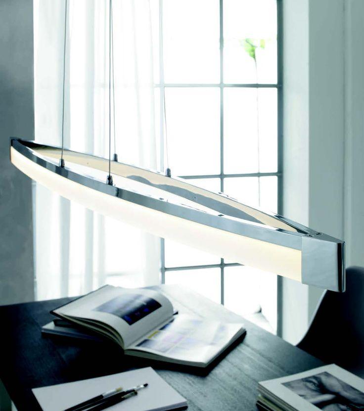 Lustr LED  WOFI WO 7625.01.01.0000 (VANNES) Lustr, plnící vyjma funkce centrálního osvětlení i funkci zajímavého interiérového doplňku #design, #consumer, #functional, #lustry, #chandelier, #chandeliers, #light, #lighting, #pendants #světlo #svítidlo #wofi #lustr #led