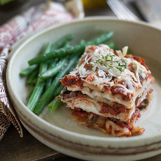 Recipe for Roasted Vegetable Lasagna | Lia Griffith