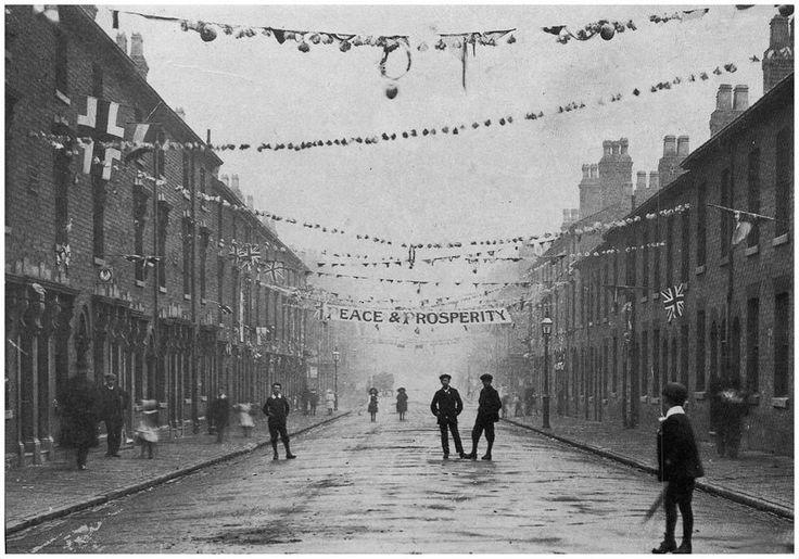 Spring Street Hockley celebrating the end of WW1 Birmingham UK