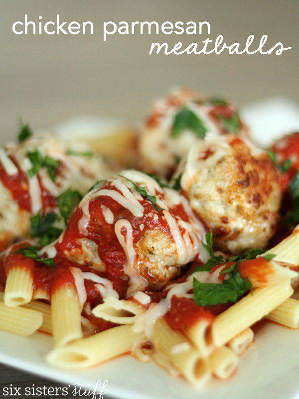 Six Sisters Homemade Chicken Parmesan Meatballs Recipe