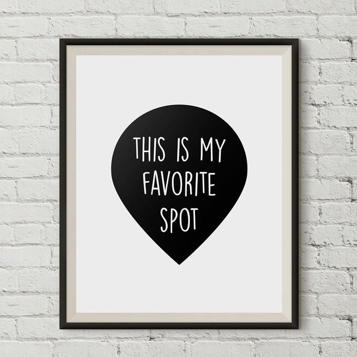 Favorite Spot Print Wall Art Scandinavian Poster Black And White Canvas Oil Painting