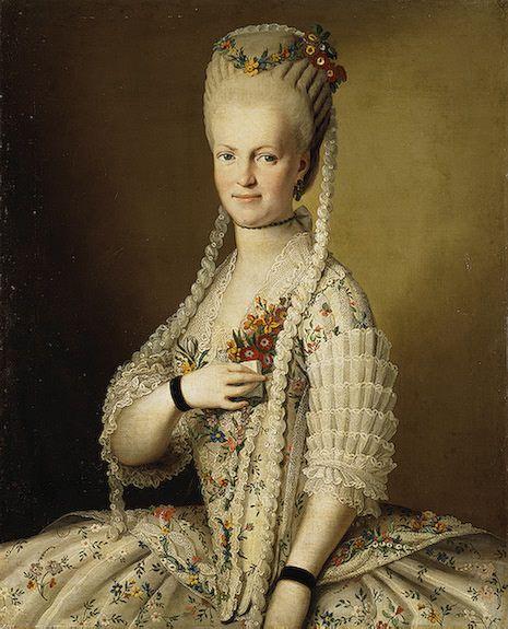 fripperiesandfobs:    Sarah Cook  1775  Artist Unknown