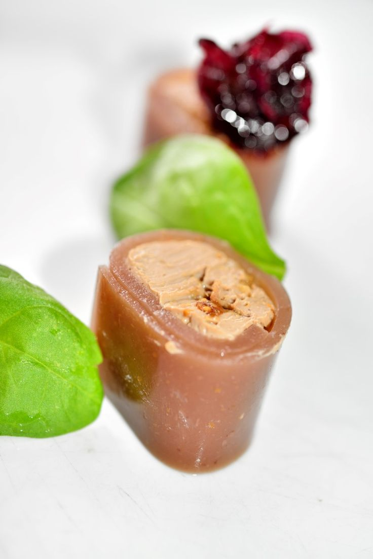 Appetizer of Liver Pate in Fig Jelly