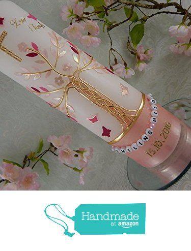 Taufkerze Lebensbaum Taufkerzen Junge Mädchen rosa weiss pink gold von der Lenz Kerzen https://www.amazon.de/dp/B01MG6THGK/ref=hnd_sw_r_pi_dp_8jJfybAHG2N8J #handmadeatamazon