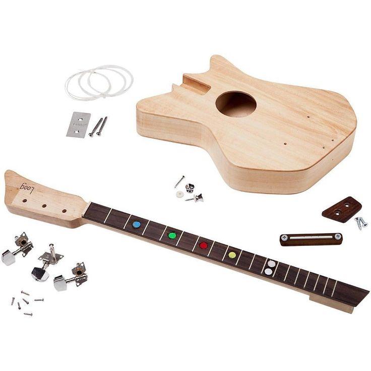 1 of 4: Loog Guitars II 3-Stringed Acoustic Guitar Kit