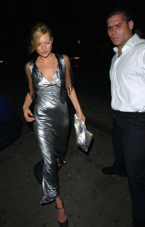 Kate Moss leaving Sadie Frost's birthday party. June 18, 2005