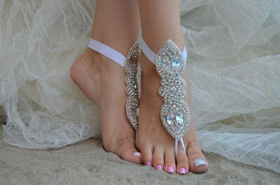 Beach wedding barefoot sandals Beach shoes bridal by UnionTouch