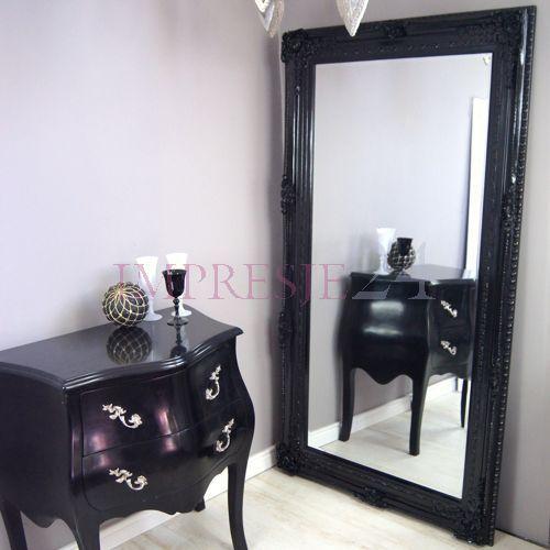 Piękne, czarne lustro | Beautiful, black mirror. #lustro #barok #meble #czarny #stylowe #mirror #baroque #furniture #black #stylish #decor