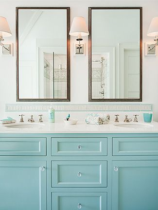 To da loos: A dozen fun Blue bathroom vanities - Robin's Egg Cabinets.